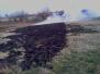 Požár trávy v Lysicích u čističky - 2012